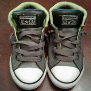 These are lightly worn Converse size 13 for boys